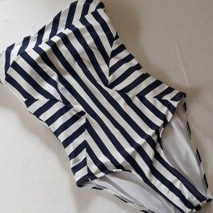 ❤ Ondademar Nautical Stripe Swimsuit